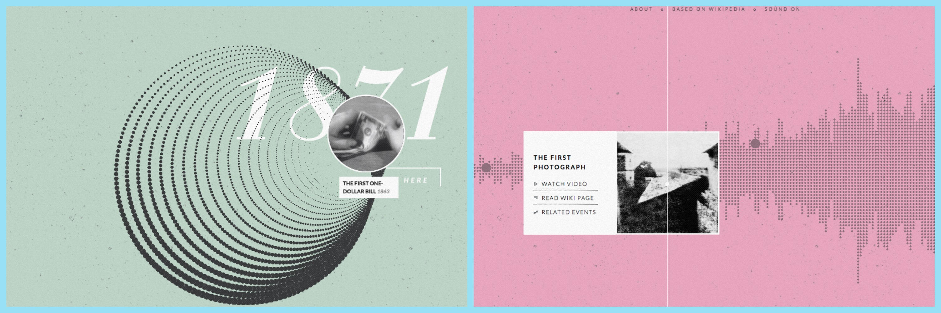 histography - visualizations based on wikipedia history events
