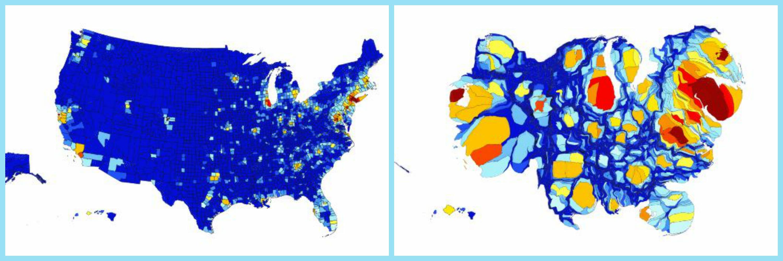 cartogram US economy