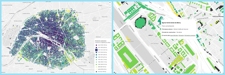 Paris Map Age of Buildings