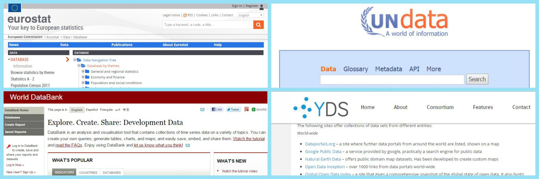 data sources websites - overview